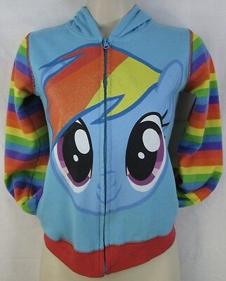 RAINBOW DASH My Little Pony Hoodie Youth Size Large With Wings Ears & Mane