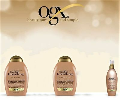 Ogx Beauty Brazilian Keratin Therapy Shampoo, Conditioner & Iron Spray (Set)