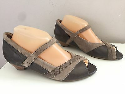 ZIERA (Kumfs) Leather Removable Orthotic Sandals Sz 39.5 W (8.5-9) #8538