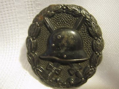 WWI German Wound Badge Black Marked DRGM