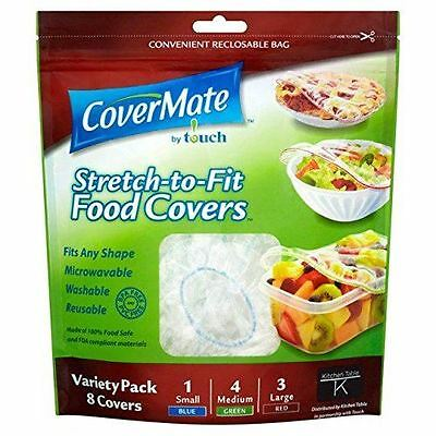 CoverMate Stretch To Fit Reusable Food Covers 8 Variety Pack