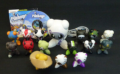 """Lot of 15 U.B. FunKeys Figures with Base & Game Disc Some Listed as """"Very Rare"""""""