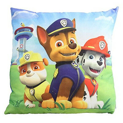 Official Licensed Paw Patrol Marshall, Chase & Rubble Cushion 35CM