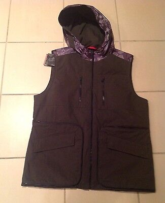 VICTORINOX Olive Green Packable Vest Protect X Water Repellent Hood NWT $315 M