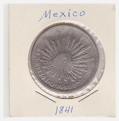 1841 Mexico Eight Reales 8R Silver Coin