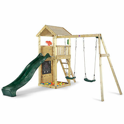 Wooden Lookout Tower with Swings - Plum