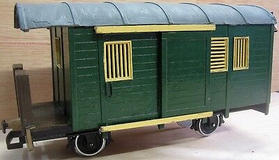 Scratch Built G Scale Postal wagon with working lights