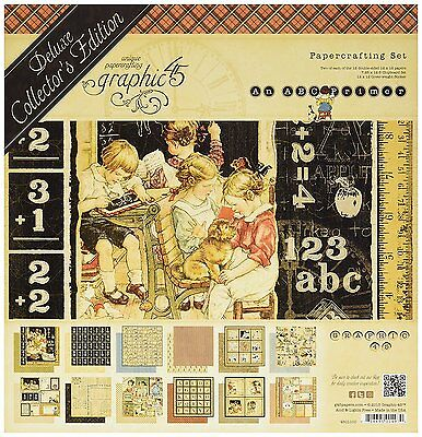 GRAPHIC 45 ABC PRIMER Deluxe Collector's Edition 12x12 Set  4501100 R