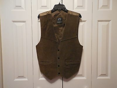Men's Suede Leather Vest size L