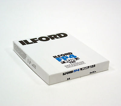 "Ilford FP4 Plus 125 4x5"" ( 25 Sheet )Black & White Film.Brand New.#Filmisnotdead"