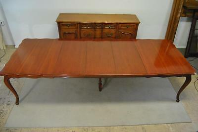 Cherry Provincial Dining Table ,Three Leafs Attributed to Widdicomb 118""