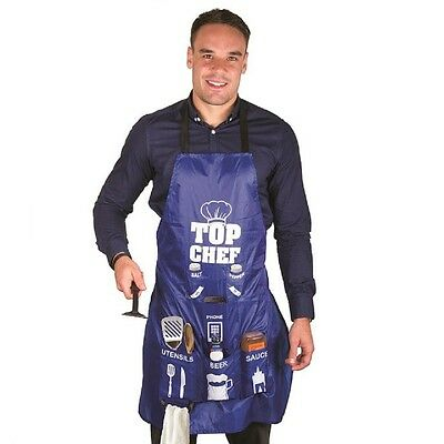 Novelty Man Apron Kitchen mens bbq apron with pockets for phone beer bottle