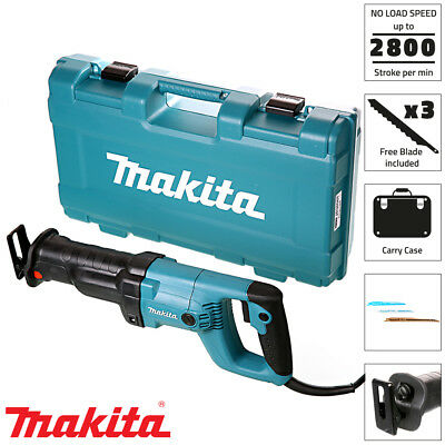 Makita JR3050T/2 Reciprocating Saw 240v With Tool Less Blade Change With Case