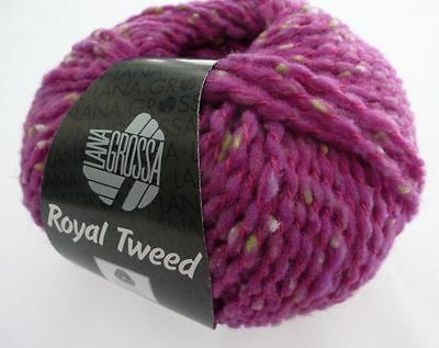 Lana Grossa Royal Tweed 50g Fb 079 zyklam meliert