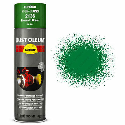 x1 Rust-Oleum Emerald Green Industrial Spray Paint Hard Hat Brand 500ml RAL 6001