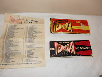 Vintage Junior Vistascreen Vista Screen 3D Views Cards Locomotives Series 45