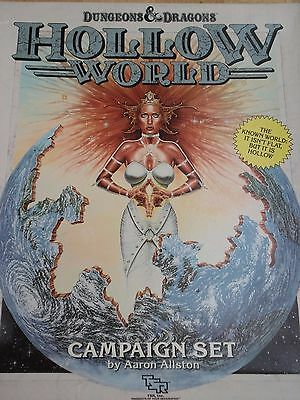 Hollow World Campaign Set TSR 1054 Dungeons & Dragons 2nd Basic used