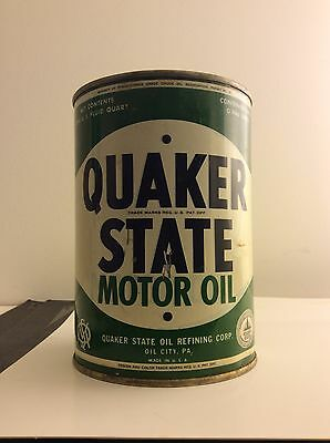 1 Quart Quaker State Motor Oil Can Early