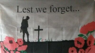 5x3' lest we forget army  flag loyalist remember them rememberance somme