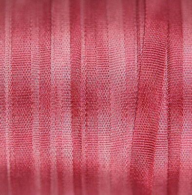 Hand Dyed Silk Ribbon for embroidery 4mm - 3 meters Pink Peony