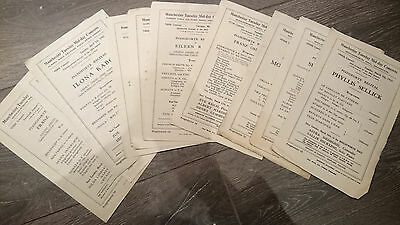 antique vintage The Manchester Mid-day Concerts Society programmes job lot x10