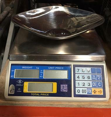 Excell Fd-110 Digital Retail Scales Good Condition Full Working Order