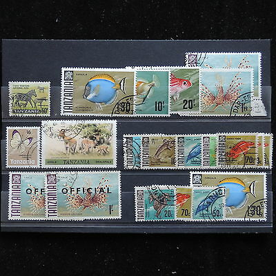 YG-A006 FISH - Tanzania, Lot Old Stamps Used