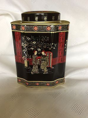 Black Jap Design Tea Caddy