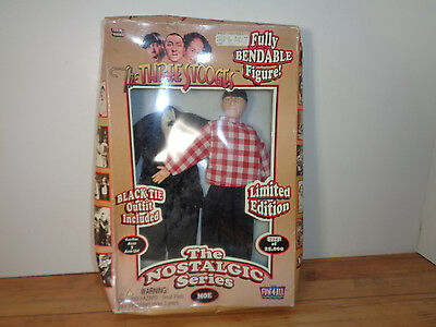Fun 4 All Moe Three Stooges Fully Bendable Action Figure Still In His Box