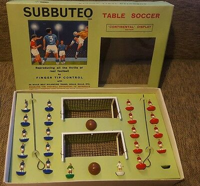 Subbuteo Table Soccer 1964/5 Continental Display Edition. football