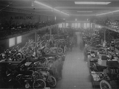 Excelsior motorcycle show stand Chicago 1909 Early American motorcycling photo 2