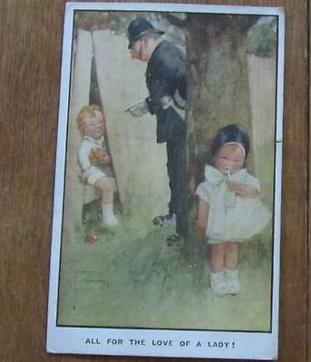 """Lawson Wood - Love Theme/valentines """"all For The Love"""" Vintage Postcard"""