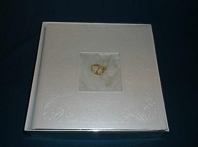 "1 x New White Design Wedding Album - Holds 200 6 x 4"" Photos"