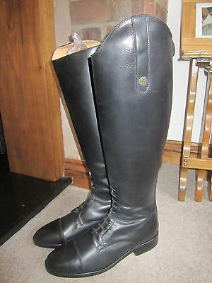 Brogini Sorrento Long Leather Field / Riding Boots - Black - Size UK 7 (EU41)