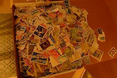 1kilo of world stamps off paper no g.b