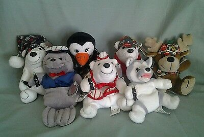 1997 Coca-Cola Beanies plush  W/Tags lot of 7☆