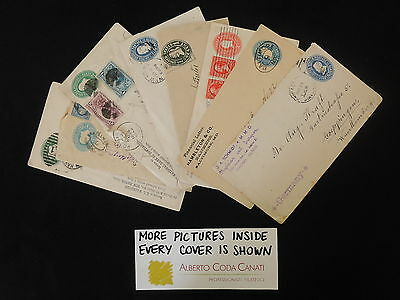 HS-A496 US COVERS - Stationery, Mostly To Germany, Wrapper, Uprated... 8 Covers