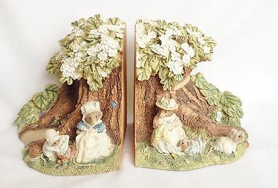 Brambly Hedge Poppy and Babies Bookends BHB01 Boxed - Border Fine Arts - RARE
