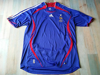 Maillot FOOT ADIDAS EQUIPE FRANCE FFF COQ ETOILE TAILLE/XL/D7 TBE