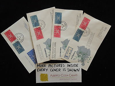 HS-A708 IRELAND - Europa Cept, Fdc, 1963, All Different Lot Of 4 Covers
