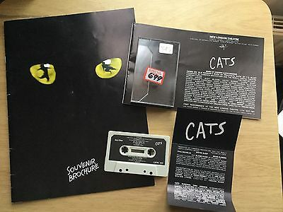 Cats 1994 Ed. Theatre Programme With Cast Insert And Original 1981 Cassette Tape