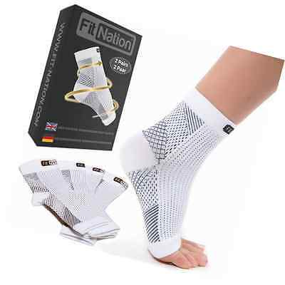 Plantar Ankle Support Fasciitis Sock Compression Foot Sleeve (2 Pairs Pack) S/M