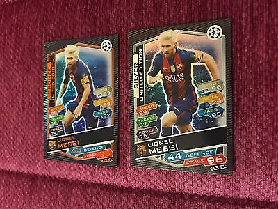 Match Attax Champions League 2017 Limited Edition Lionel Messi Bronze Silver