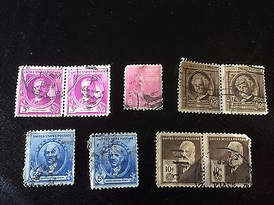 Famous American Postage Stamps, Used