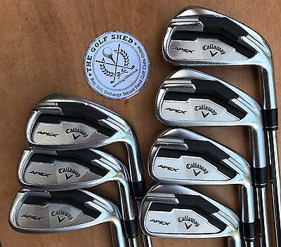 Callaway APEX FORGED Irons - 4 - PW - DYNAMIC GOLD X100 SHAFTS - 3/4 INCH LONGER