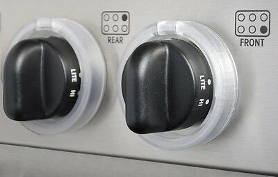 Kid Kusion Clearly Safe Stove Knob Locks, 5 pack