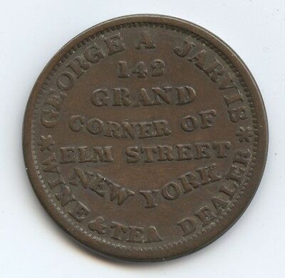 Hard Times Token 1837 HT 283 (#6324) NY, NY Jarvis. VF. Carefully Check out the