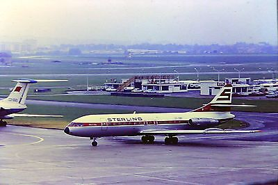 SUD CARAVELLE STERLING AIRWAYS PARIS 1973 ORIGINAL35MM SLIDE stored 40+ years