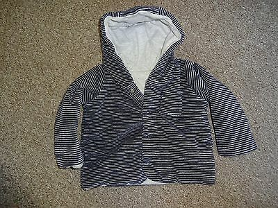 Baby Boys Clothes 0-3 Months - M&s - Blue Striped Cardigan/jacket