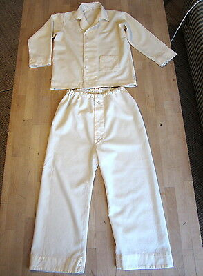 2 x Vintage 1960s Children's Pyjamas Classic Cream Clydella Fabric - 8/9yrs old